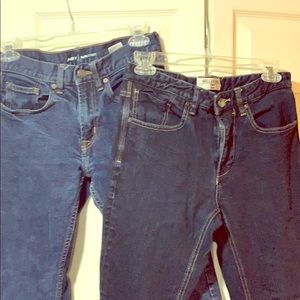 two 28 pair of jeans  Billabong & Old Navy